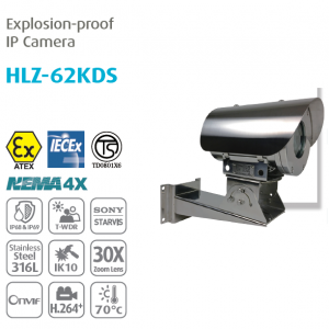 Camera chống cháy nổ Explosion-proof Bullet IP Camera HLZ-62KDS(10X) - Made in Taiwan